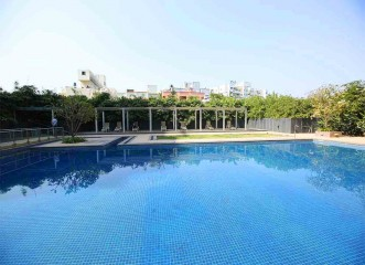 Semi-Olympic Size Swimming Pool at Amit's Bloomfield Ready Possession Bungalows & Villas in Ambegaon, Pune