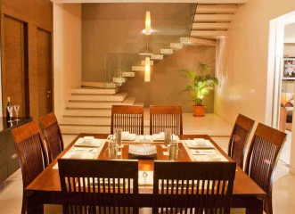 Dining Room at Amit's Bloomfield Ready Possession Bungalows & Villas in Ambegaon, Pune