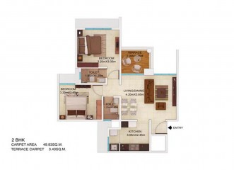 Amit's Colori    Floor Plan Building 2 - J  2 & 2.5BHK in Undri, Pune
