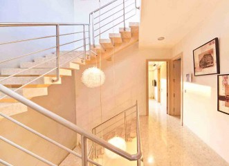 Beautiful staircase at Amit's Bloomfield Ready Possession Bungalows & Villas in Ambegaon, Pune