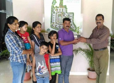 Amit Enterprises Housing Ltd, one of the top builders in Pune,distributed saplings to customers during World Environment Day