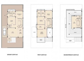 Floor Plan Amit's Bloomfield  Ready Possession Villas in Ambegaon, Pune